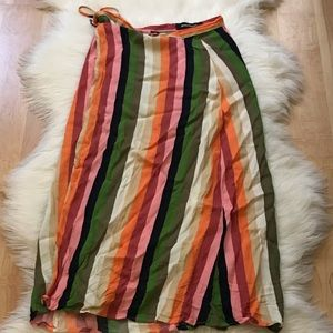 Dresses & Skirts - The Reformation Rainbow Wrap Skirt Size Small/4.